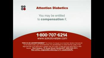 Sokolove Law TV Spot, 'Diabetes' - Thumbnail 4