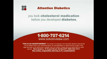 Sokolove Law TV Spot, 'Diabetes' - Thumbnail 5