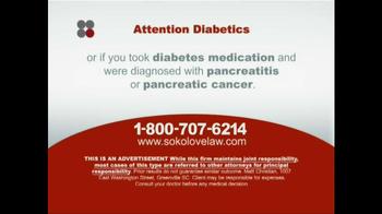 Sokolove Law TV Spot, 'Diabetes' - Thumbnail 6
