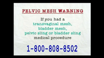 AkinMears TV Spot, 'Pelvic Mesh Warning'