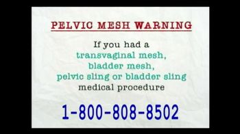 AkinMears TV Spot, 'Pelvic Mesh Warning'