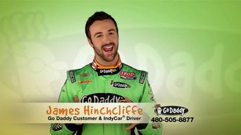 Go Daddy TV Spot, 'Sexy Side' Feat. James Hinchcliffe - 15 commercial airings