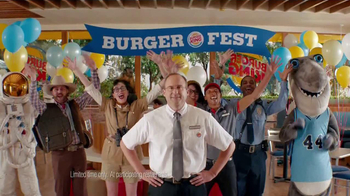 Burger King Bacon Cheddar Stuffed Burger TV Spot, 'BurgerFest' - 1749 commercial airings