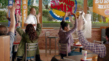 Burger King Bacon Cheddar Stuffed Burger TV Spot, 'BurgerFest' - Thumbnail 4