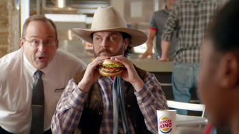 Burger King Bacon Cheddar Stuffed Burger TV Spot, 'BurgerFest' - Thumbnail 5