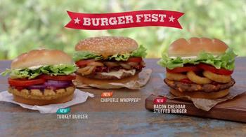 Burger King Bacon Cheddar Stuffed Burger TV Spot, 'BurgerFest' - Thumbnail 8