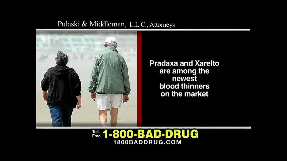 Pulaski & Middleman TV Commercial, 'Pradaxa and Xarelto'