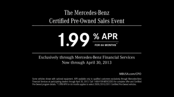 Mercedes-Benz Certified Pre-Owned Sales Event TV Spot, 'Parking' - Thumbnail 10