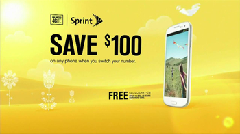 Sprint TV Spot, '$100 Off Phone: Spring' - 417 commercial airings