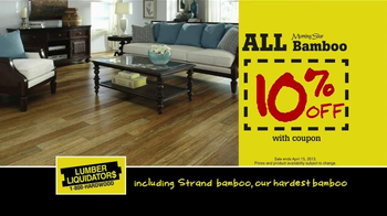 Lumber Liquidators TV Spot, 'Hardwood and Bamboo' - Thumbnail 9