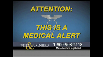 Weitz and Luxenberg TV Spot, 'Asbestos Exposure' - Thumbnail 1