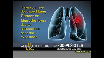 Weitz and Luxenberg TV Spot, 'Asbestos Exposure' - Thumbnail 2