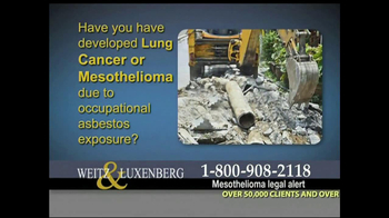 Weitz and Luxenberg TV Spot, 'Asbestos Exposure' - Thumbnail 3