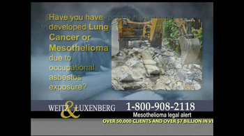 Weitz and Luxenberg TV Spot, 'Asbestos Exposure' - Thumbnail 4