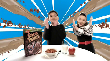 Cocoa Pebbles TV Spot, 'Free Milk Mustache'