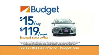 Budget Rent a Car  TV Spot, '$15 Weekend Day' - Thumbnail 8