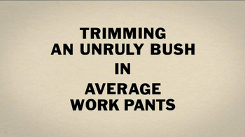 Duluth Trading Flex Fire Hose Work Pants TV Spot, 'Unruly Bush' - Thumbnail 1