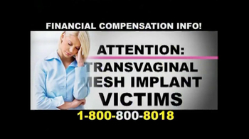 Danziger & De Llano TV Spot, 'Transvaginal Mesh' - Thumbnail 1