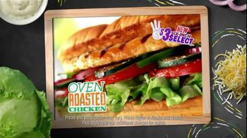 Subway $3 Six-Inch Select TV Spot, 'Oven Roasted Chicken'
