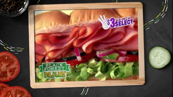 Subway $3 Six-Inch Select TV Spot, 'Oven Roasted Chicken' - Thumbnail 9
