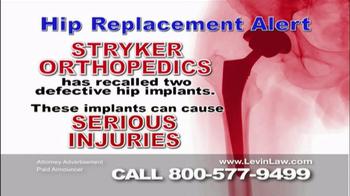 Levin Law TV Spot, 'Stryker Orthopedics'