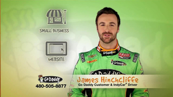 Go Daddy TV Spot, Featuring James Hinchcliffe - Thumbnail 1