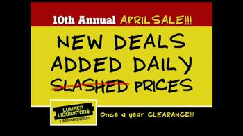 Lumber Liquidators 10th Annual April Sale TV Spot - Thumbnail 9