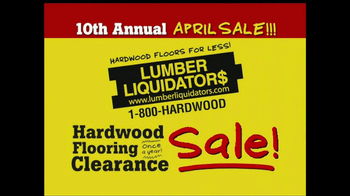 Lumber Liquidators 10th Annual April Sale TV Spot