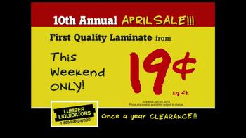Lumber Liquidators 10th Annual April Sale TV Spot - Thumbnail 3