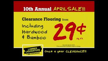 Lumber Liquidators 10th Annual April Sale TV Spot - Thumbnail 4