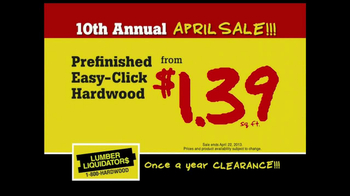 Lumber Liquidators 10th Annual April Sale TV Spot - Thumbnail 5
