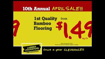 Lumber Liquidators 10th Annual April Sale TV Spot - Thumbnail 6