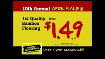 Lumber Liquidators 10th Annual April Sale TV Spot - Thumbnail 7