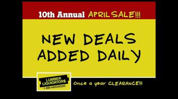 Lumber Liquidators 10th Annual April Sale TV Spot - Thumbnail 8