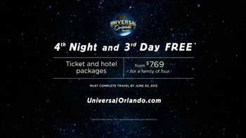 Universal Studios Orlando TV Spot 'Mean It: Fourth Night, Third Day Free' - Thumbnail 9