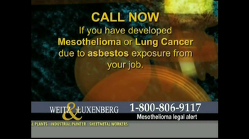 Weitz and Luxenberg TV Spot, 'Mesothelioma' - Thumbnail 10