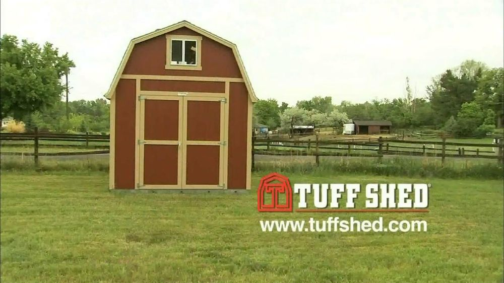 Tuff shed tv commercial 39 options 39 for Tough shed sale