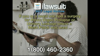 iLawsuit Legal Hotline TV Spot, 'Surgical Mesh Award in New Jersey'