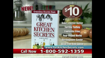 Great Kitchen Secrets Revealed TV Spot thumbnail