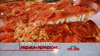 Papa John's Double Layered Pepperoni Pizza TV Spot, 'Twice is Nice' - Thumbnail 2