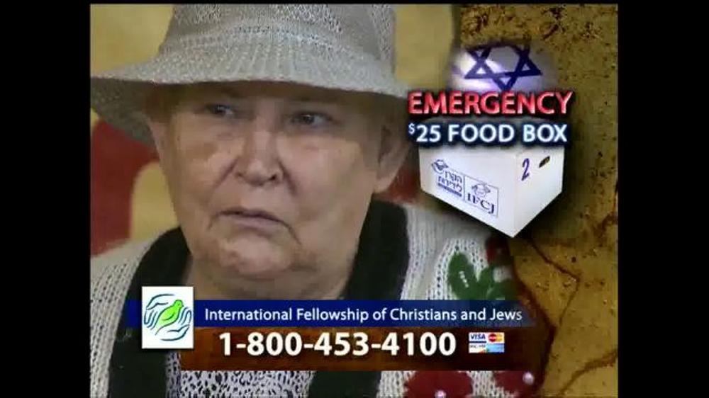 IFCJ TV Commercial, 'Emergency Food Box' Featuring Rabbi Yechiel Eckstein