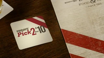 TGI Friday's Pick 2 for $10 TV Spot, 'New Friday's Menu'