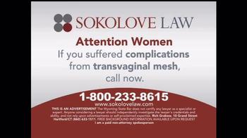 Sokolove Law TV Spot, 'Transvaginal Mesh' - Thumbnail 9