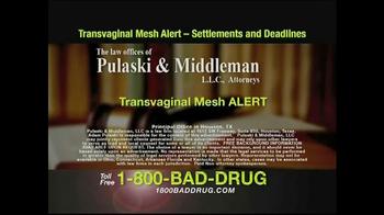 Pulaski & Middleman TV Spot, 'Transvaginal Mesh Alert'