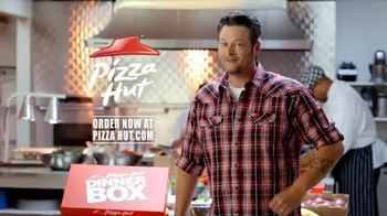 Pizza Hut Dinner Box TV Spot Featuring Blake Shelton - 4561 commercial airings