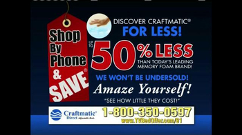 Craftmatic TV Spot, '50% Less' - Thumbnail 10