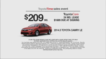 Toyota Time Sales Event TV Spot, 'Leases' - Thumbnail 7