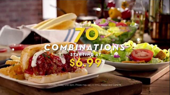 Olive Garden Pronto Lunch TV Spot, '70 Lunch Combinations'