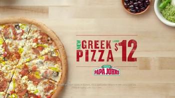 Papa John's Greek Pizza TV Spot - Thumbnail 8