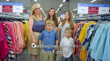 Burlington Coat Factory TV Spot, 'Fritz Family'